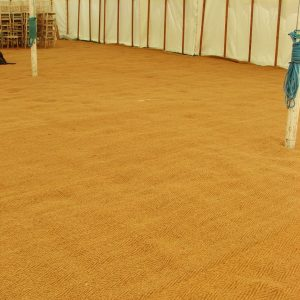 an example of a large coir marquee floors